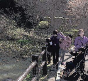 片倉城跡公園で散策